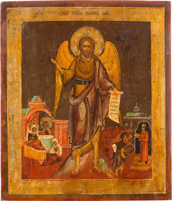 A BIG ICON WITH JOHN THE BAPTIST, WITH TWO VITA-SCENES - photo 1