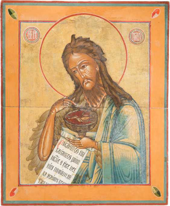 LARGE-FORMAT ICON DATED WITH JOHN THE BAPTIST FROM DEESIS - photo 1