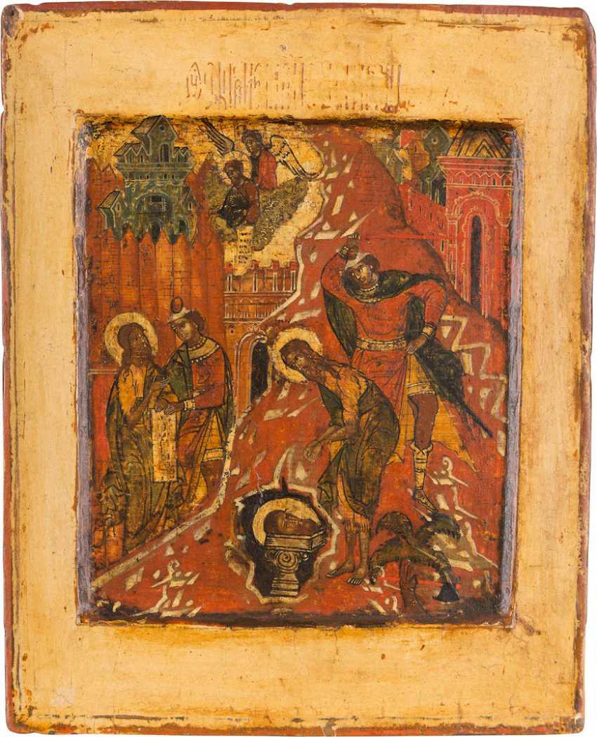 A FINE ICON OF THE BEHEADING OF JOHN THE FORERUNNER - photo 1