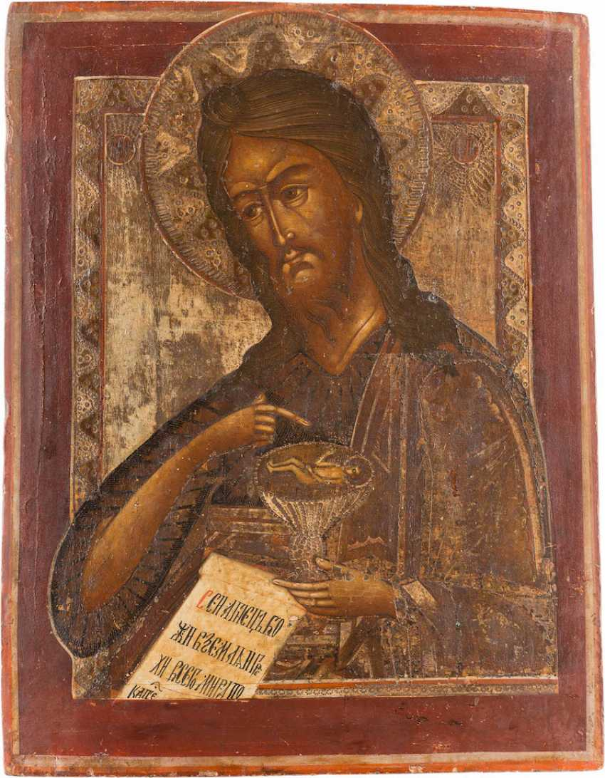 A BIG ICON WITH JOHN THE BAPTIST FROM DEESIS - photo 1