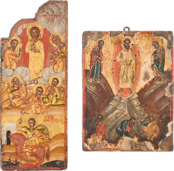 A SMALL ICON, AND WINGS OF A TRIPTYCH WITH THE TRANSFIGURATION OF CHRIST - photo 1
