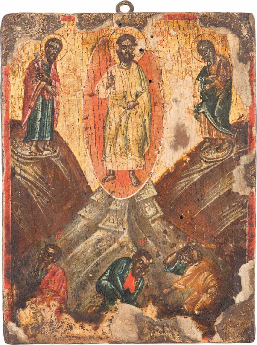 A SMALL ICON, AND WINGS OF A TRIPTYCH WITH THE TRANSFIGURATION OF CHRIST - photo 3