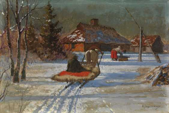EGOROV, ANDREI (1878-1954) A Winter's Evening , signed. - photo 1