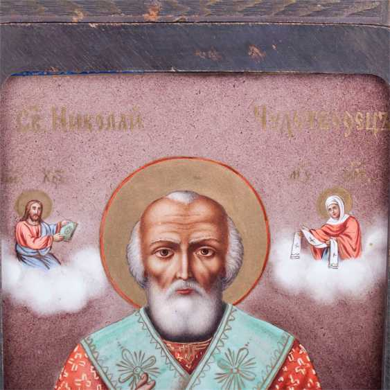 An unusual icon of St. Nicholas the Wonderworker - photo 2