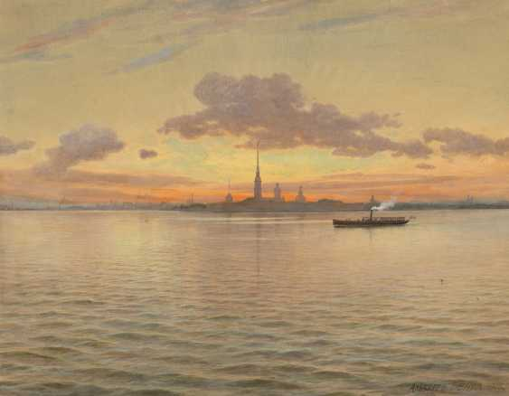 BENOIS, ALBERT NIKOLAEVICH (1852-1936) View of Peter and Paul Fortress , signed and dated 1915. - photo 1