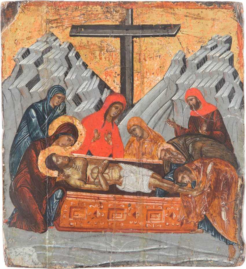 A SMALL ICON OF THE LAMENTATION OVER THE DEAD CHRIST (THRENOS) - photo 1