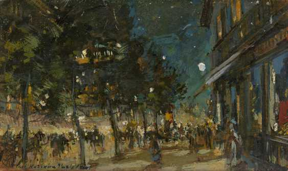 "KOROVIN, KONSTANTIN (1861-1939) Paris by Night , signed, inscribed ""Paris"" and dated 1900. - photo 1"