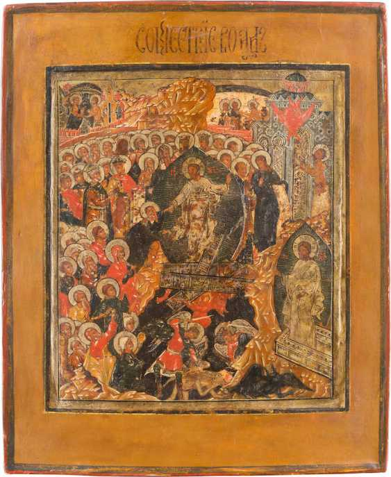 ICON OF RESURRECTION AND DESCENT OF CHRIST INTO HELL - photo 1