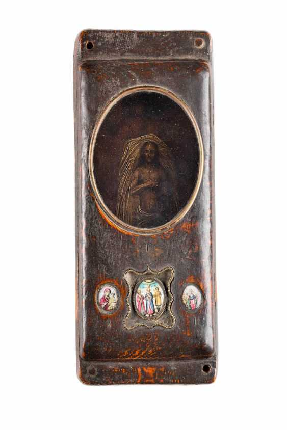 RARE RELIQUARY WITH THE footprint of CHRIST AND THREE FINIFTI - photo 1