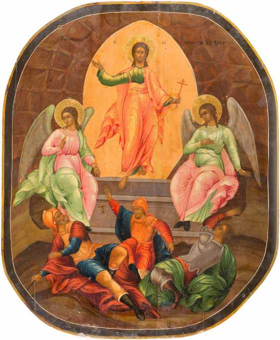 LARGE-FORMAT ICON WITH THE RESURRECTION OF CHRIST - photo 1