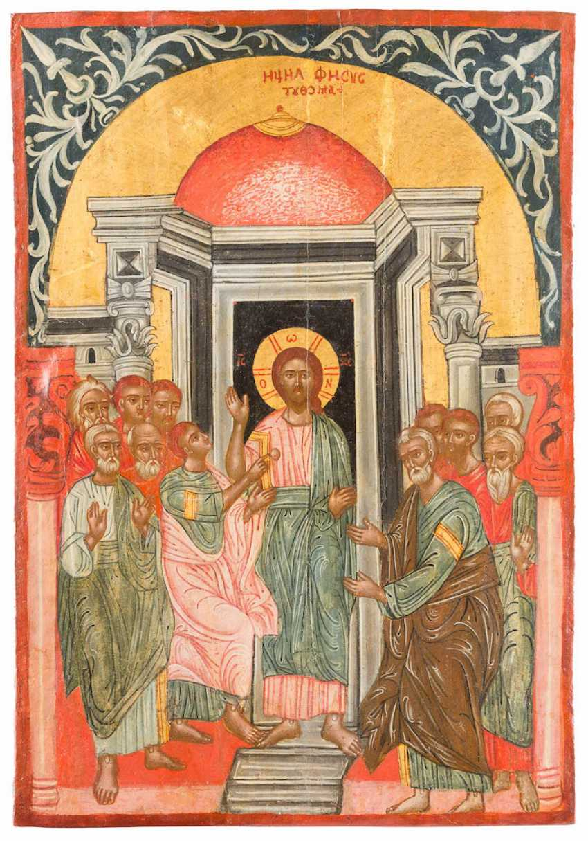 RARE AND LARGE-FORMAT ICON WITH THE DOUBTING THOMAS - photo 1