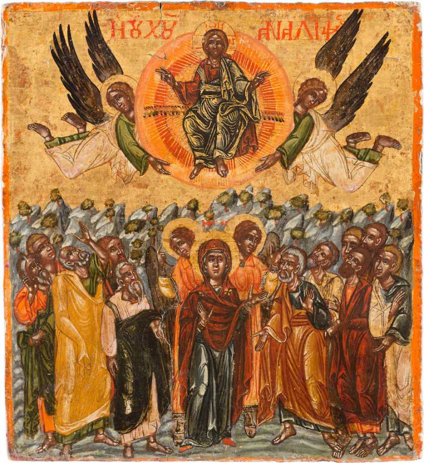 A BIG ICON WITH THE ASCENSION OF CHRIST - photo 1