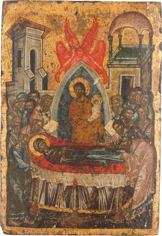 FINE ICON WITH THE DORMITION OF THE VIRGIN (KOIMESIS) - photo 1