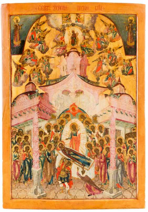 A MONUMENTAL ICON OF THE DORMITION AND THE ASSUMPTION OF THE MOTHER OF GOD - photo 1