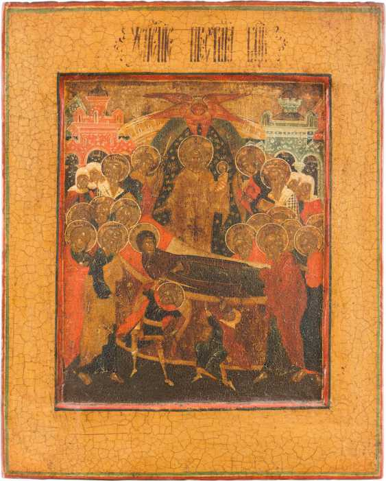 ICON WITH THE DORMITION OF THE MOTHER OF GOD - photo 1