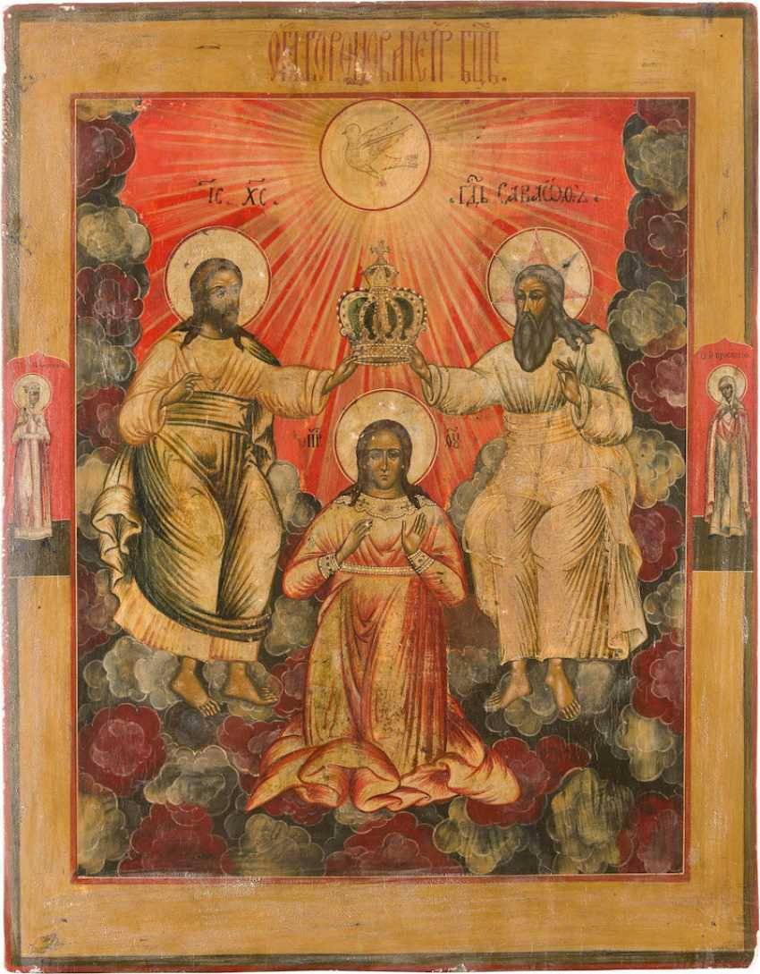 A MONUMENTAL ICON WITH THE CORONATION OF THE MOTHER OF GOD - photo 1