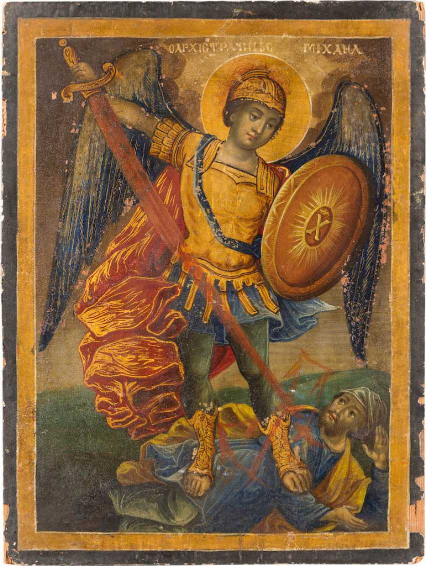ICON WITH THE ARCHANGEL MICHAEL - photo 1