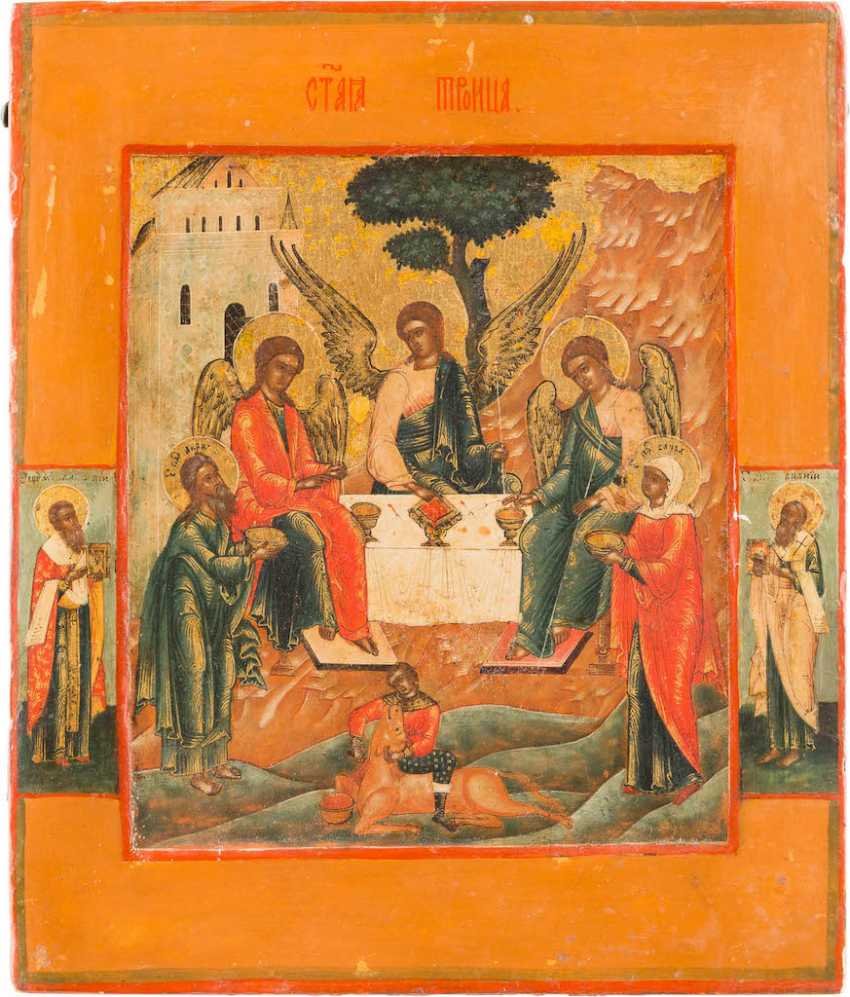 ICON WITH THE HOLY TRINITY (OLD TESTAMENT TYPE) - photo 1