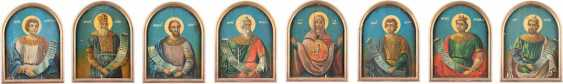 SET OF EIGHT LARGE FORMAT ICONS FROM A CHURCH ICONOSTASIS - photo 1