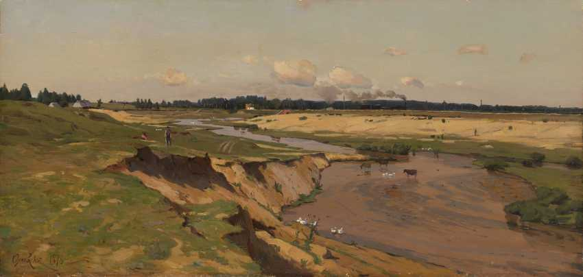 ORLOVSKY, VLADIMIR (1842-1914) View of a Vilno Suburb , signed and dated 1876. - photo 1