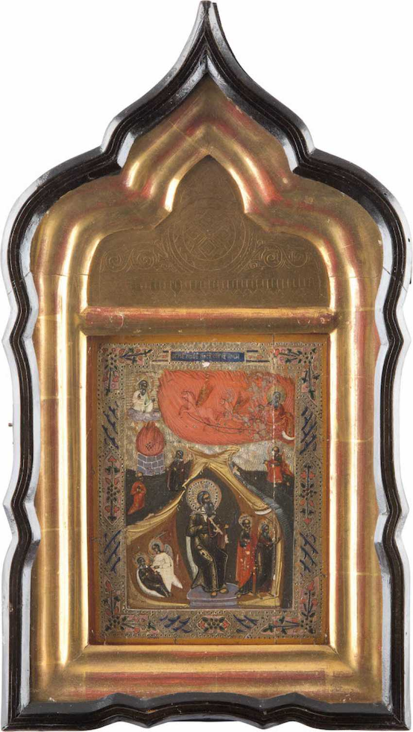 ICON WITH THE PROPHET ELIJAH IN THE ICON CASE - photo 1