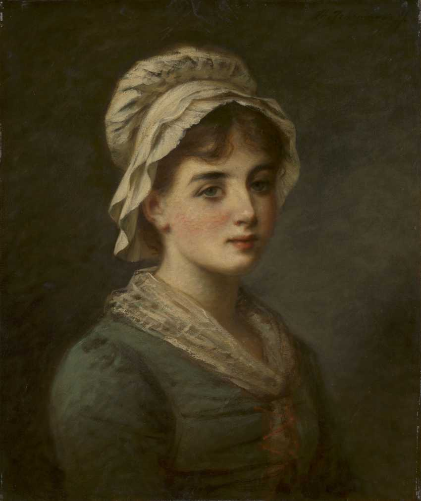 CHUMAKOV, FEDOR (1823-1911) Portrait of a Young Girl , signed. - photo 1