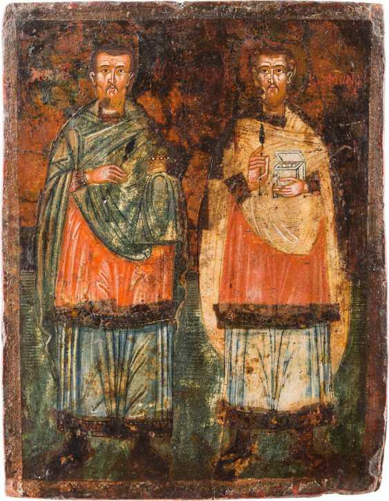 ICON OF THE SAINTS COSMAS AND DAMIAN - photo 1