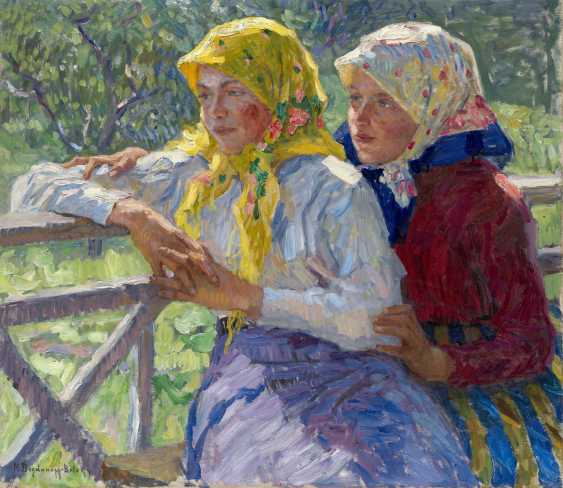 BOGDANOV-BELSKY, NIKOLAI (1868-1945) Latgalian Girls , signed. - photo 1