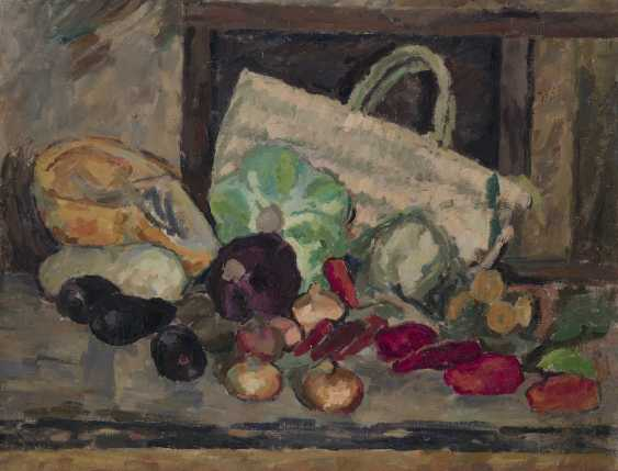 UDALTZOVA, NADEZHDA (1886-1961) Still Life with Flowers and Still Life with Vegetables , double-sided work, one side signed and dated 1931. - photo 1