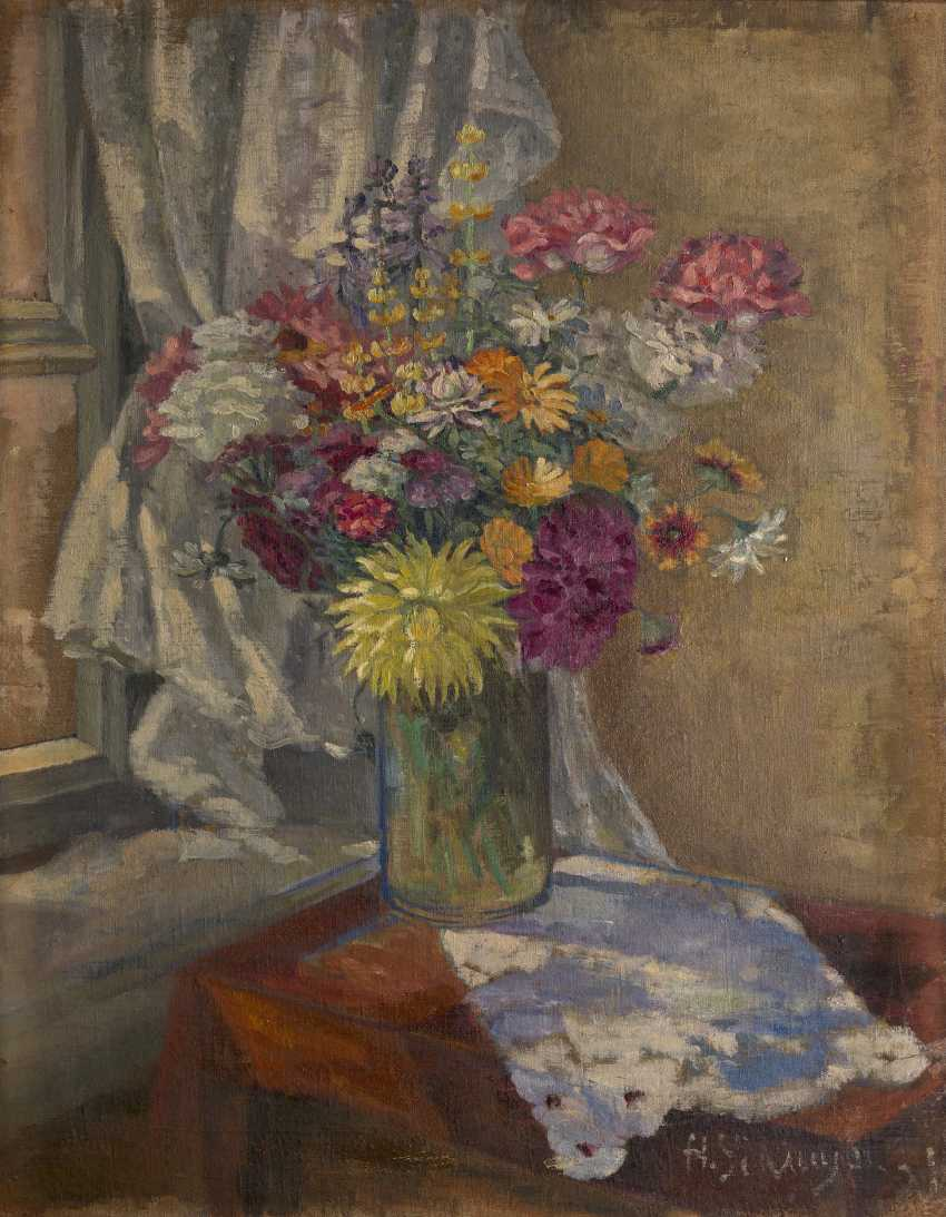 UDALTZOVA, NADEZHDA (1886-1961) Still Life with Flowers and Still Life with Vegetables , double-sided work, one side signed and dated 1931. - photo 2