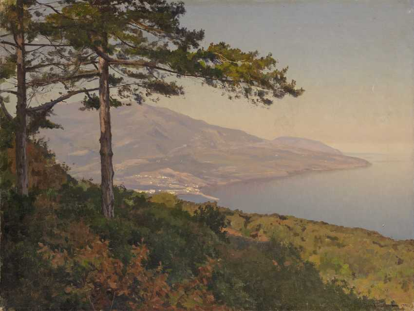 KRACHKOVSKY, IOSIF (1854-1914) View of the Crimean Coast , signed and dated 1902. - photo 1