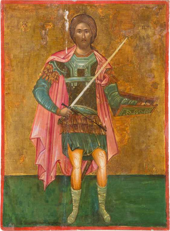 LARGE-FORMAT ICON WITH SAINT VIKTOR - photo 1