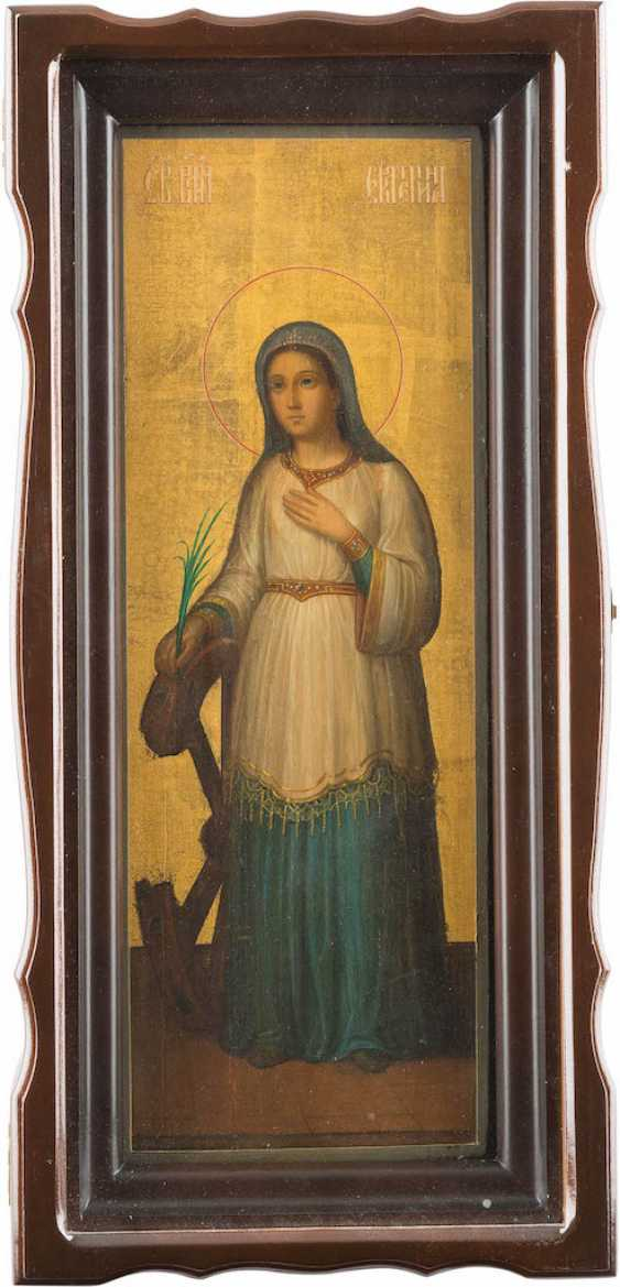 A BIG ICON WITH THE SAINT CATHERINE IN THE ICON CASE - photo 1