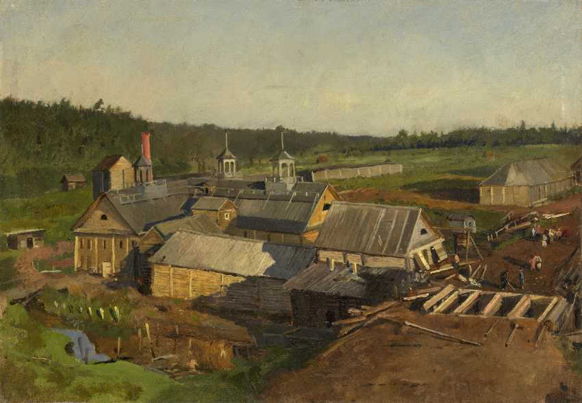 SVEDOMSKY, ALEKSANDER (1848-1911) View of the Distillery at Mikhailovsky Zavod  - photo 1