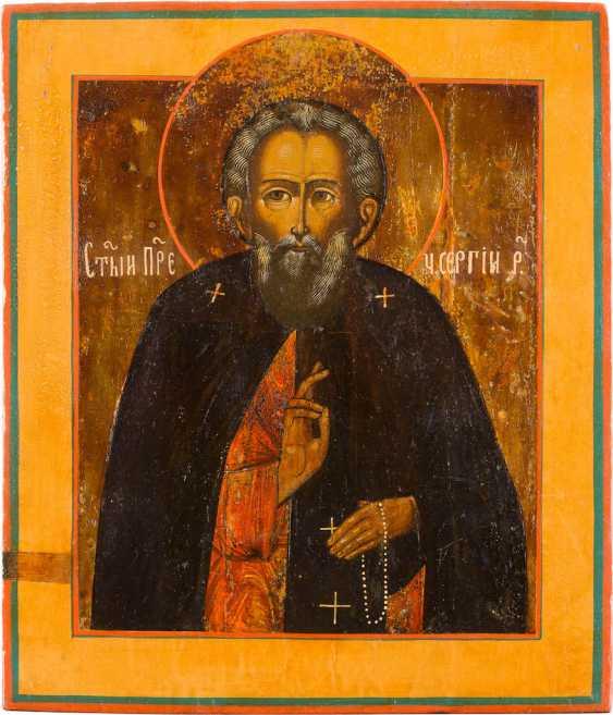 ICON WITH ST. SERGIUS OF RADONEZH - photo 1