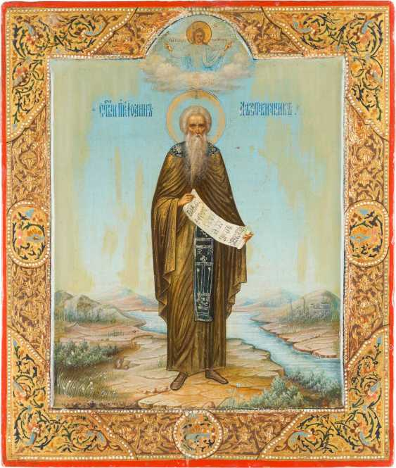 SIGNED AND DATED ICON OF ST. JOHN CLIMACUS - photo 1