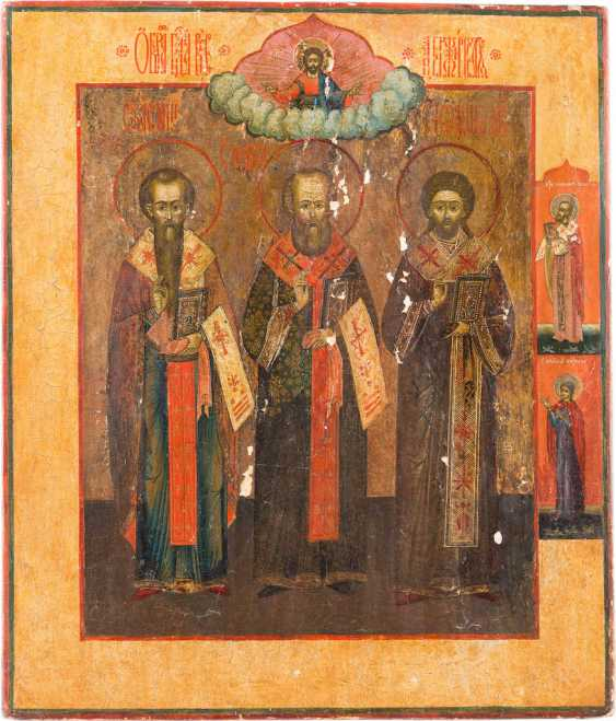 A BIG ICON WITH THE THREE CHURCH FATHERS - photo 1