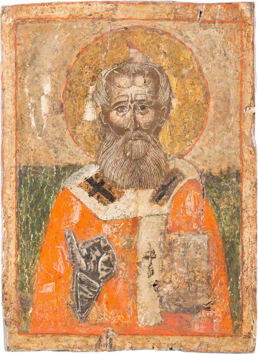 A SMALL ICON WITH THE HOLY ATHANASIUS OF ALEXANDRIA - photo 1