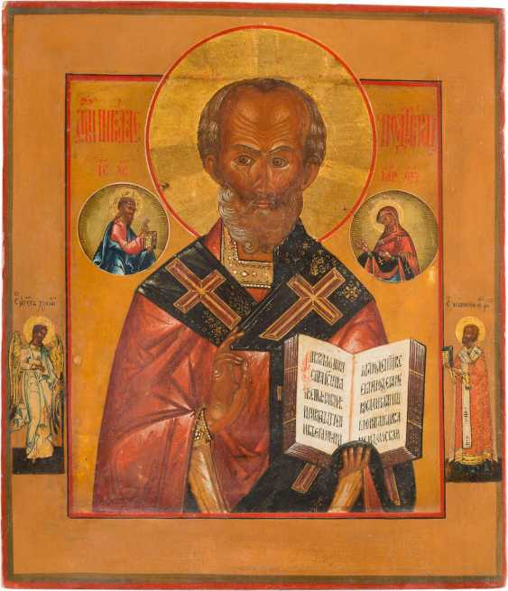 A LARGE ICON WITH ST. NICHOLAS OF MYRA - photo 1