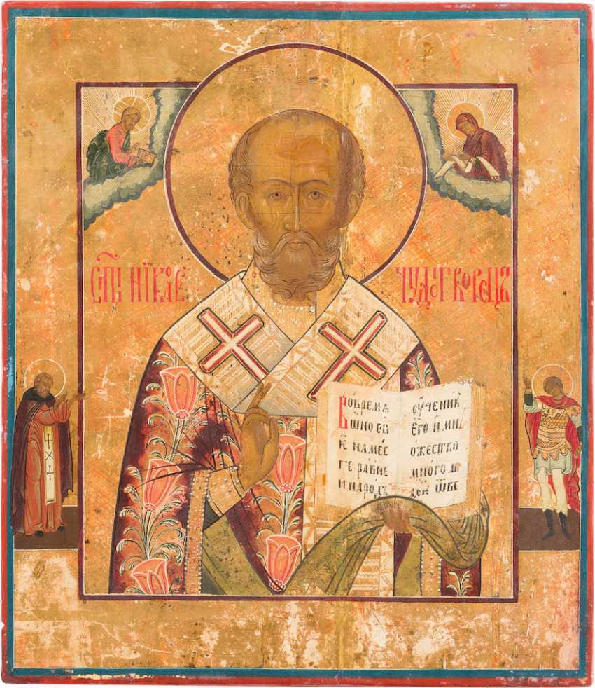 ICON WITH ST. NICHOLAS OF MYRA - photo 1
