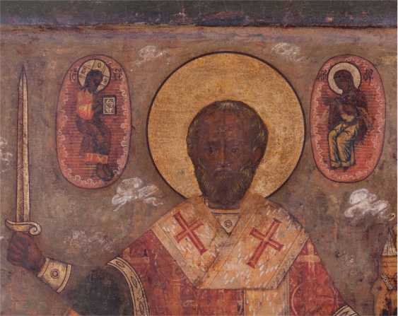 A rare icon of Saint Nicholas the Wonderworker of Myra - photo 5