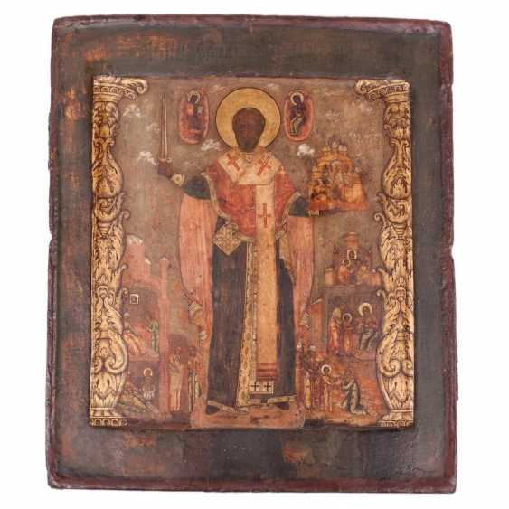 A rare icon of Saint Nicholas the Wonderworker of Myra - photo 1