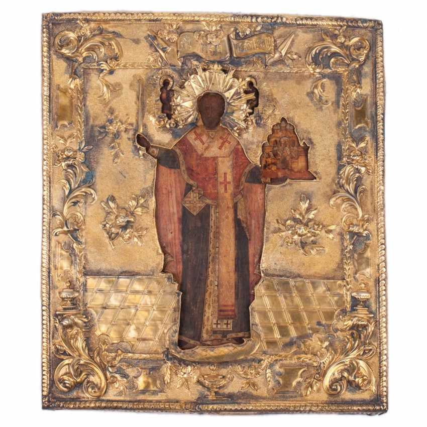 A rare icon of Saint Nicholas the Wonderworker of Myra - photo 3