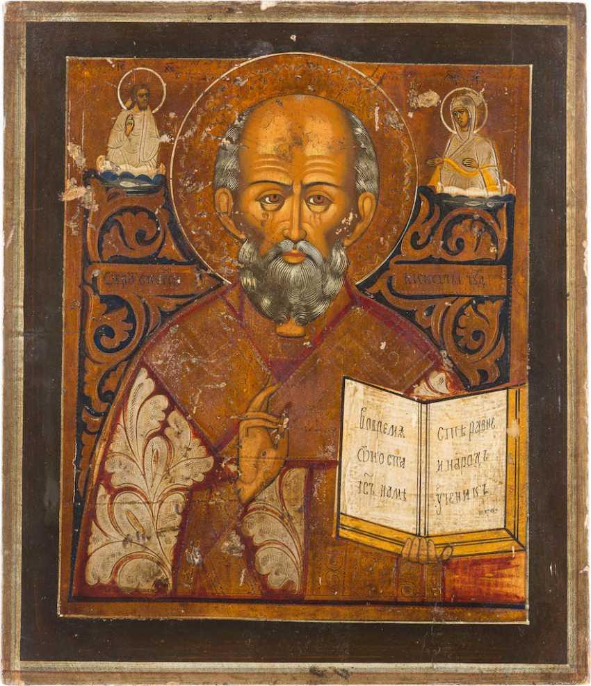 ICON WITH ST. NICHOLAS OF MYRA - photo 1