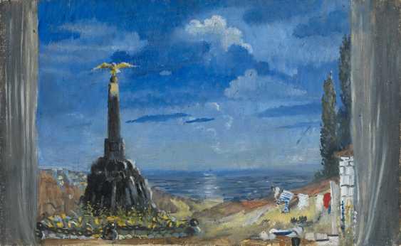 "PIMENOV, YURI (1903-1977) Sevastopol, Set Design for the Boris Lavrenev Play ""Pesn o chernomortsakh""  - photo 1"