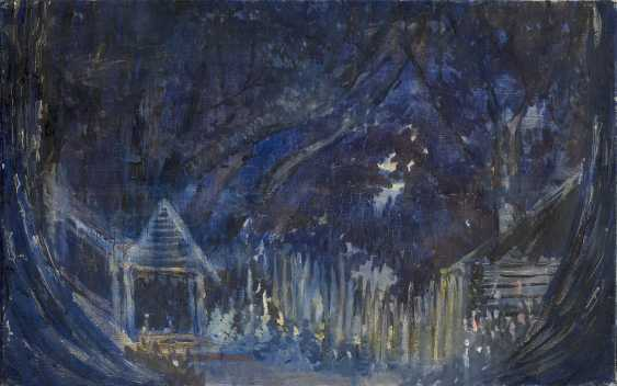 "PIMENOV, YURI (1903-1977) Huts in the Forest, Set Design for the Boris Lavrenev Play ""Pesn o chernomortsakh""  - photo 1"