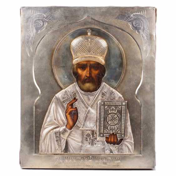 Icon of art Nouveau Saint Nicholas the Wonderworker, tn