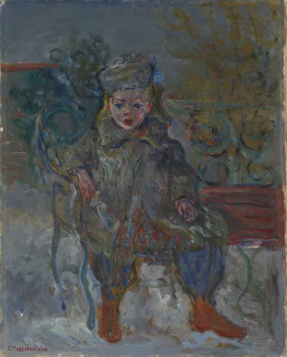 TERECHKOVITCH, CONSTANTIN (1902-1978) Girl on a Park Bench , signed. - photo 1