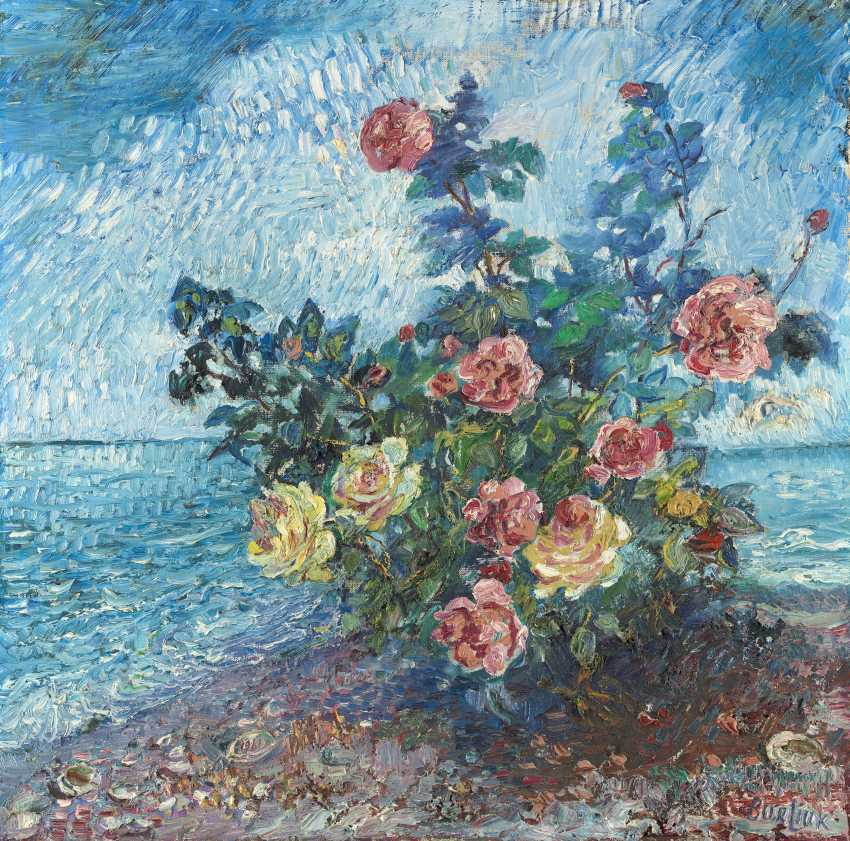 BURLIUK, DAVID (1882-1967) Still Life with Roses , signed and dated 1961. - photo 1