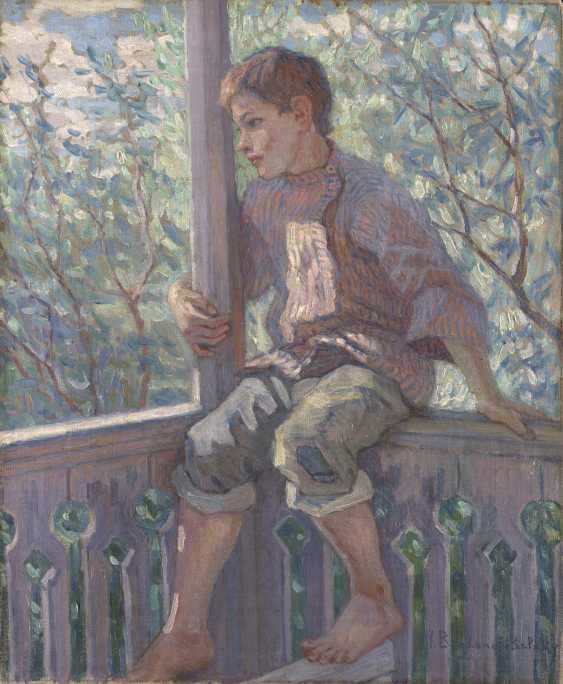 BOGDANOV-BELSKY, NIKOLAI (1868-1945) Portrait of the Artists Stepson , signed. - photo 1
